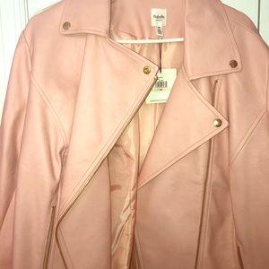 A beautiful pink leather jacket